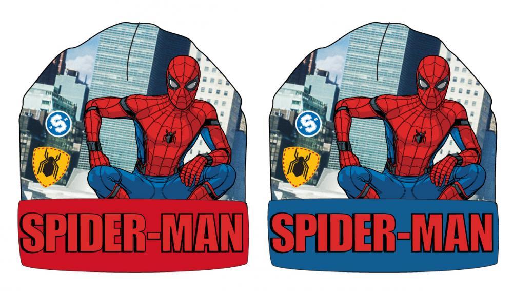 Čiapka Spiderman modrá a červená červená, 52