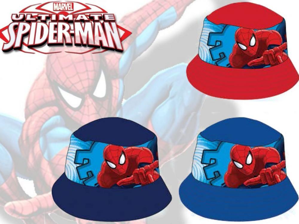Klobúk Spiderman červený,modrý,tmavomodrý červený;52