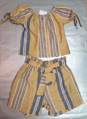 Tričko a kraťasy pre dievčatá žltý 128
