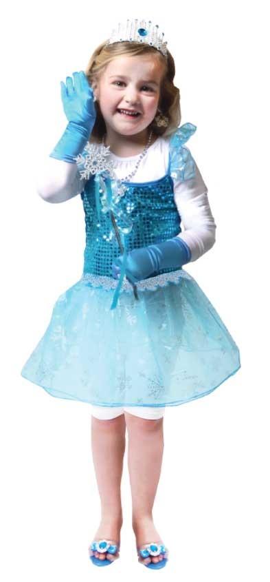 Karnevalový kostým zimná princezná 110/122