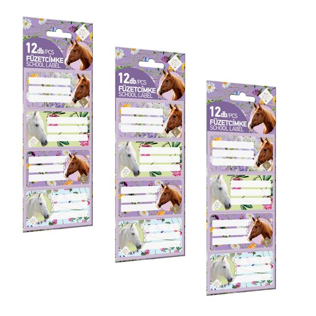 Nalepovacie štítky na zošity Horse 12ks