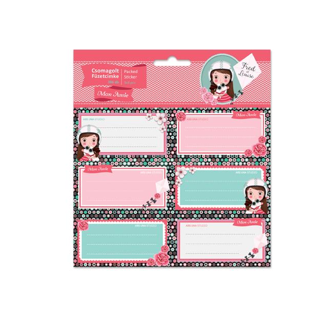 Nalepovacie štítky na zošity MonAmie