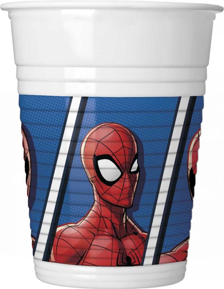 Plastové poháre Spiderman 200ml - 8ks