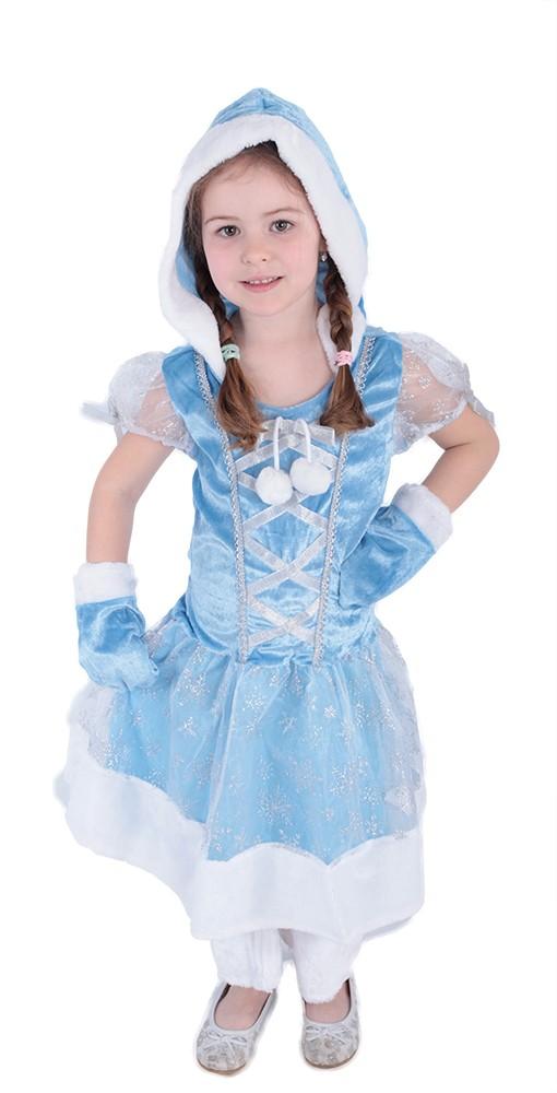 Karnevalový kostým princezná zimná kožúšková S 104/116