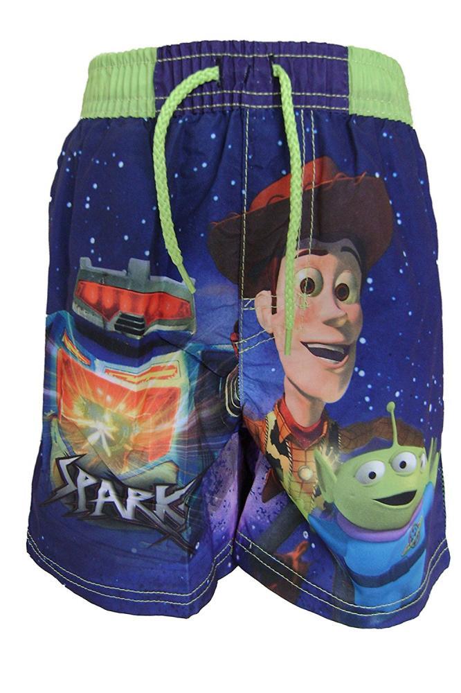 Plavky Toy Story šortky zelený a modrý pás modré;104