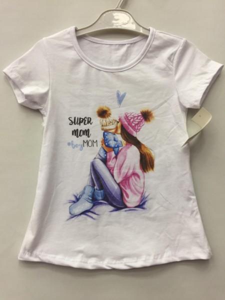 Tričko Super Mama s chlapčekom 128