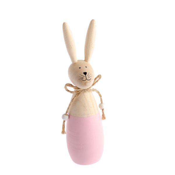 Drevený zajac farebný
