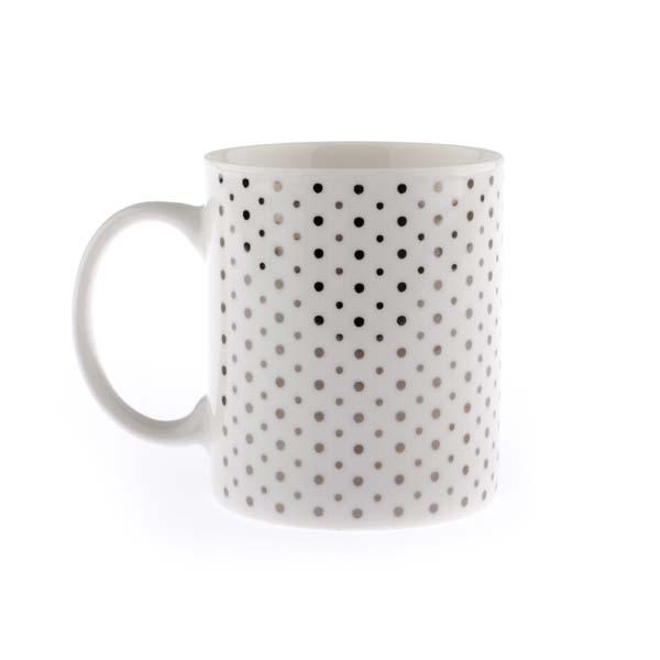 Hrnček s bodkami porcelán