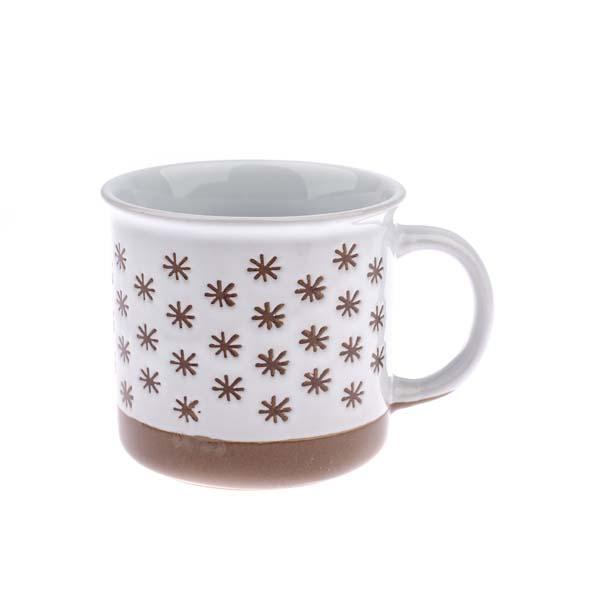 Hrnček Vločky keramika