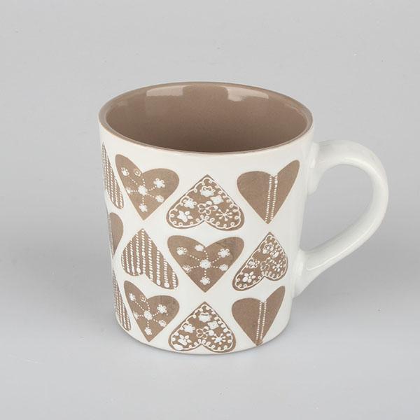 Hrnček Srdiečka porcelánový