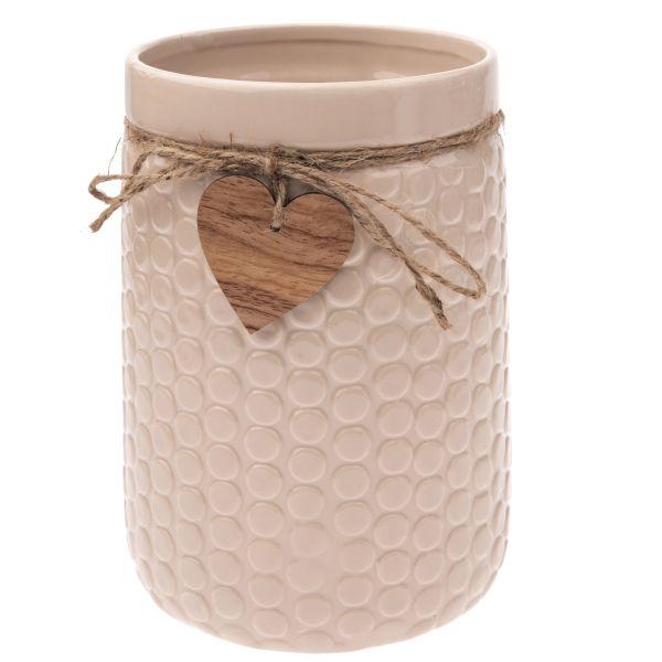 Keramická váza so srdiečkom 21cm