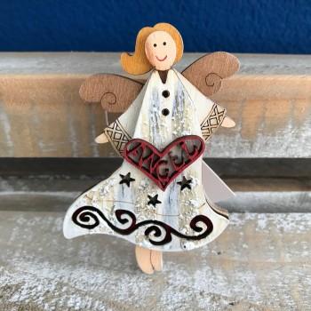 Drevená dekorácia závesná Anjel