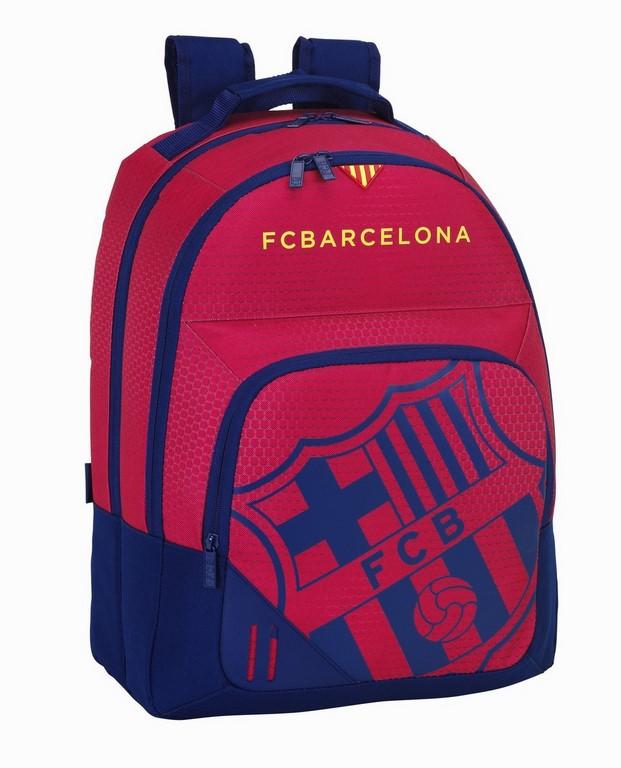 Batoh FC Barcelona dvojpriečinkový Red