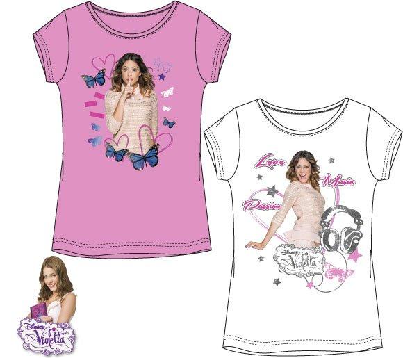 Tričko Violetta ružové, biele 116, biele