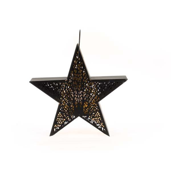 Kovová lucerna Hviezda