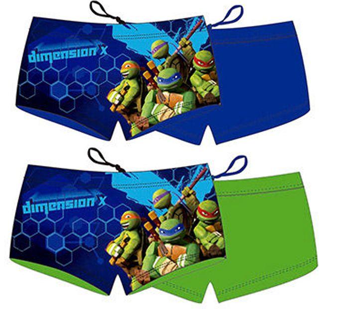 Plavky Ninja Korytnačky zelené a modré zelené;98