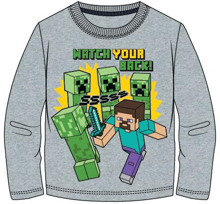 Tričko Minecraft dlh.rukáv 116