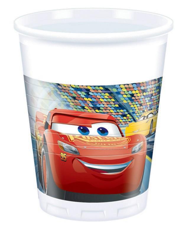 Plastové poháre Cars  200ml- 8ks