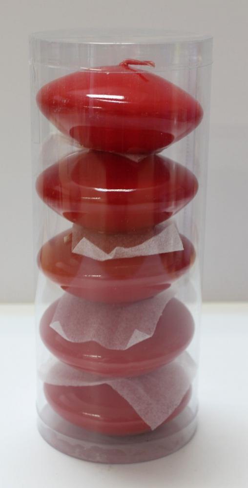 Sviečka plávajúca veľká  8cm rôzne farby červená