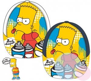 Šiltovka Bart Simpson biela a antracitová antracitová, 52