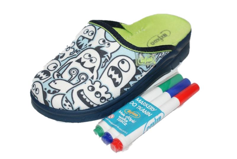 Chlapčenské papuče, šľapky BEFADO - 708X004 vyfarbovacie 27