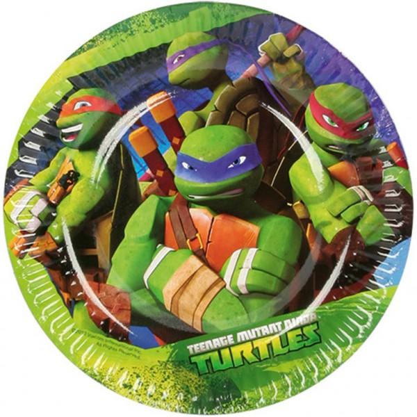 Papierové taniere Ninja korytnačky 18cm-8ks
