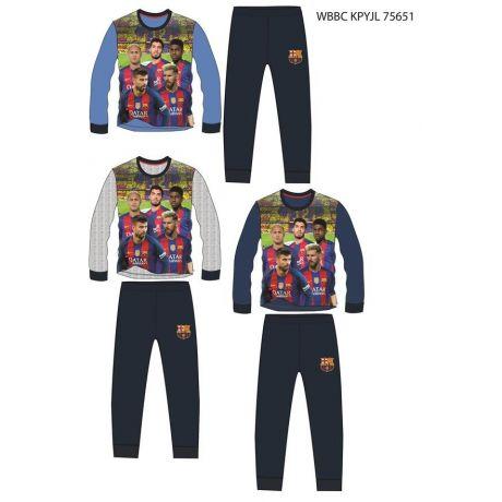 Pyžamo FC Barcelona dlhé   98 šedá