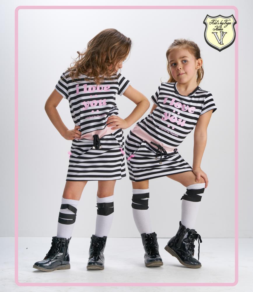 Dievčenská tunika, šaty I LOVE YOU  Kid's By Voga Italia  98/104
