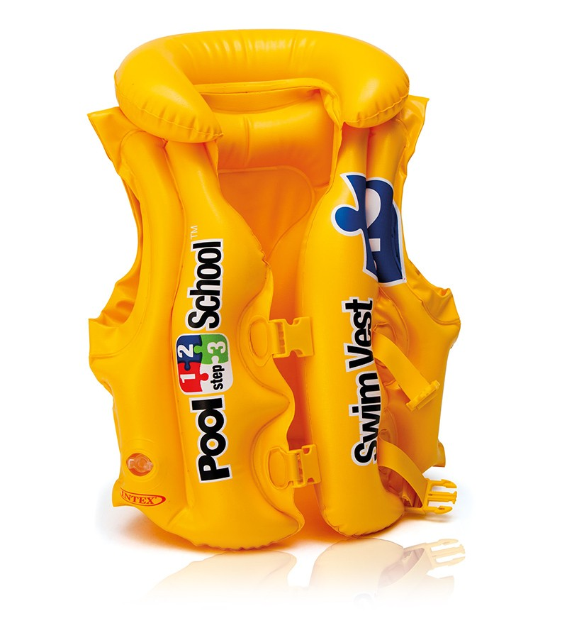 Nafukovacia vesta plávacia POOL SCHOOL DELUXE,  3-6 ROKOV