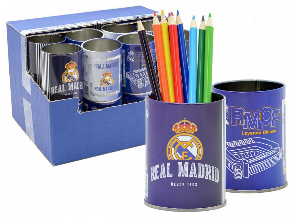 Stojan plechový na ceruzky Real Madrid