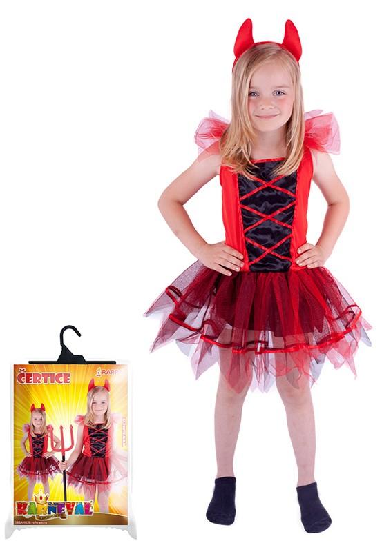 Karnevalový kostým čertice, XS- 3-4 r
