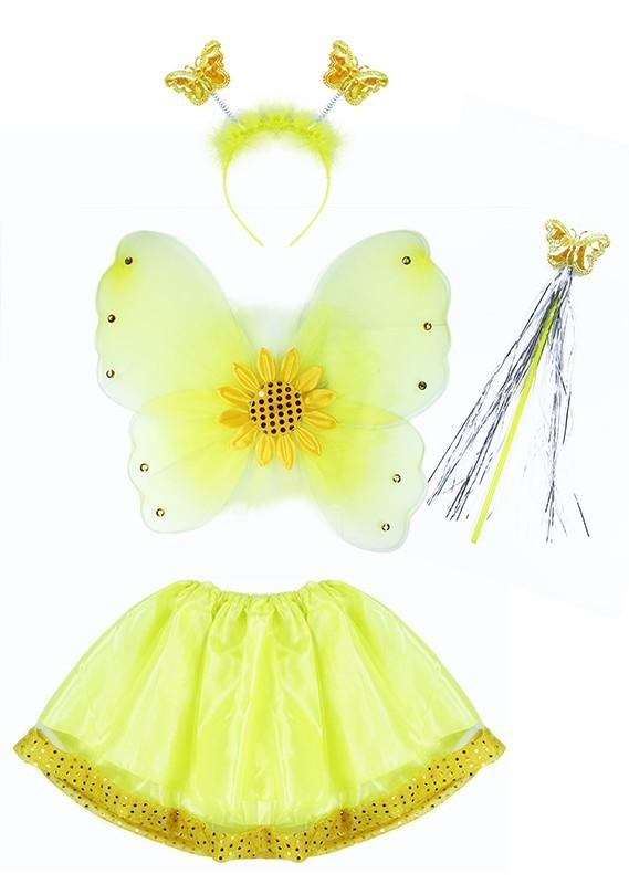 Kostým slnečnica s krídlami, 3-10rokov