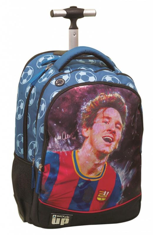 Školský batoh FC Barcelona - MESSI na kolieskach