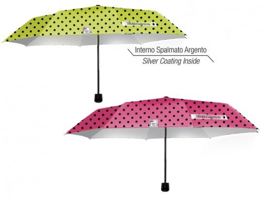 Dámsky skladací dáždnik bodkovaný s UV filtrom