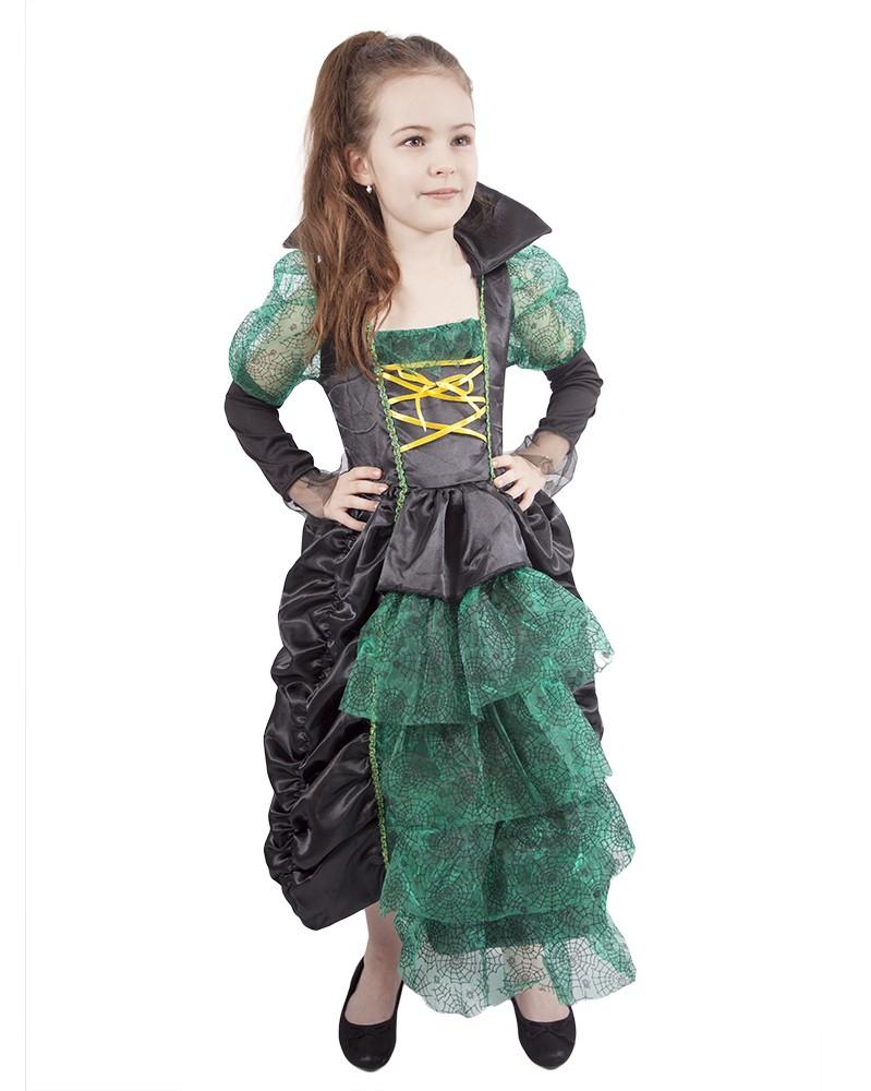 Karnevalový kostým Čarodejnica /Halloween 6-8 rokov