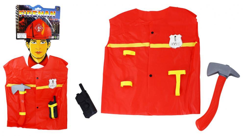 Hasičský plášť a doplnky na karneval-od 3-7rokov