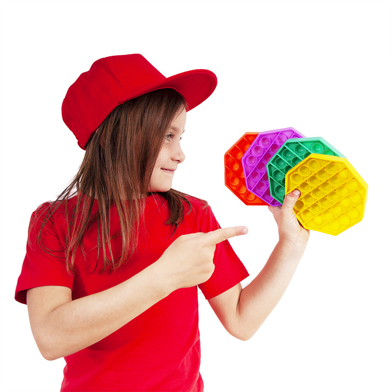 RAPPA Antistresová hračka POP IT praskanie 28 bublín -osemhran