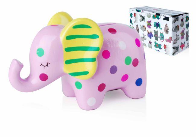 Pokladnička ružový slon
