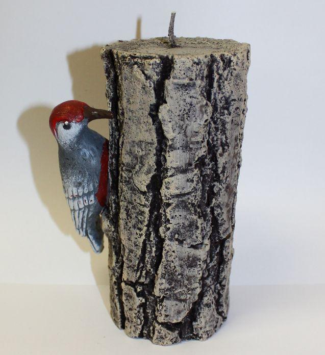 Sviečka s vtáčikom na dreve 0,5kg