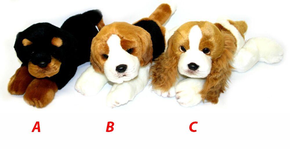 Plyšový pes ležiaci, 30cm 3 druhy