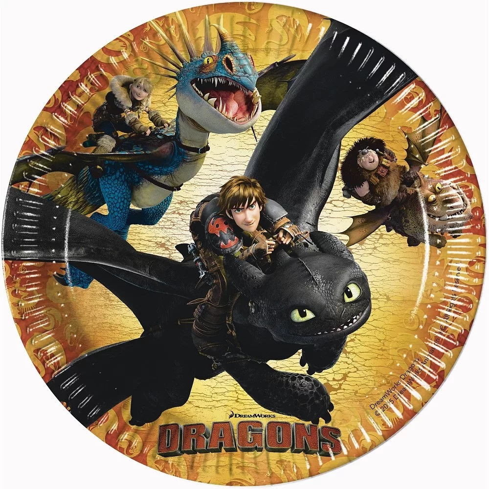 Papierové taniere Dragons- Ako vycvičiť draka