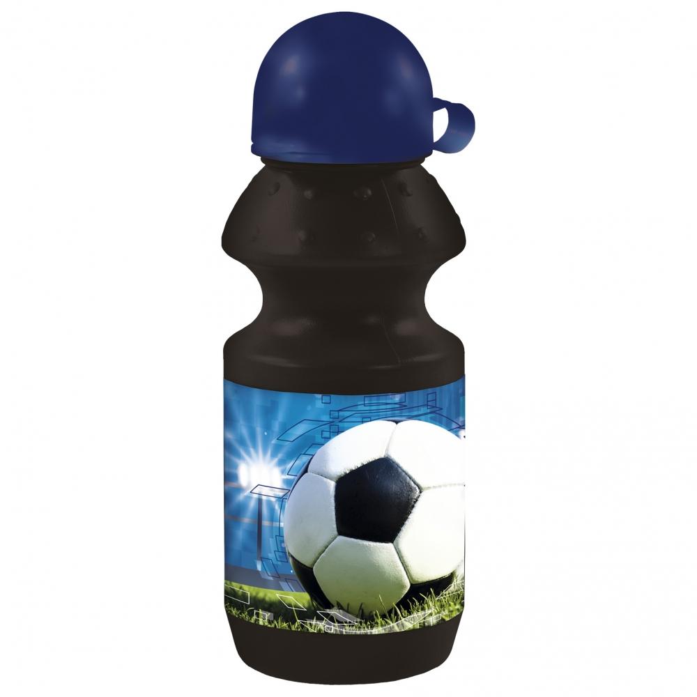 DERFORM Fľaša na pitie Footbal 330ml čierna