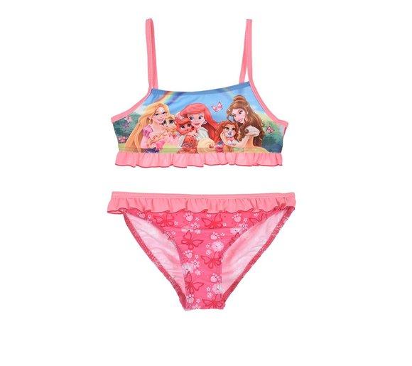 Plavky Princezny dvojdielne 98, ružové