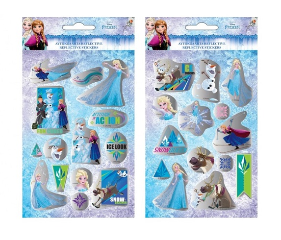 Nálepky Frozen reflexné- 14ks