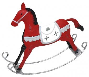 Húpací kôň kovový dekorácia