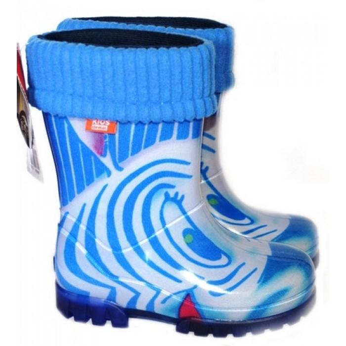 Dievčenské gumáky DEMAR - Twister Lux Print HH zateplené - Zebra 32/33