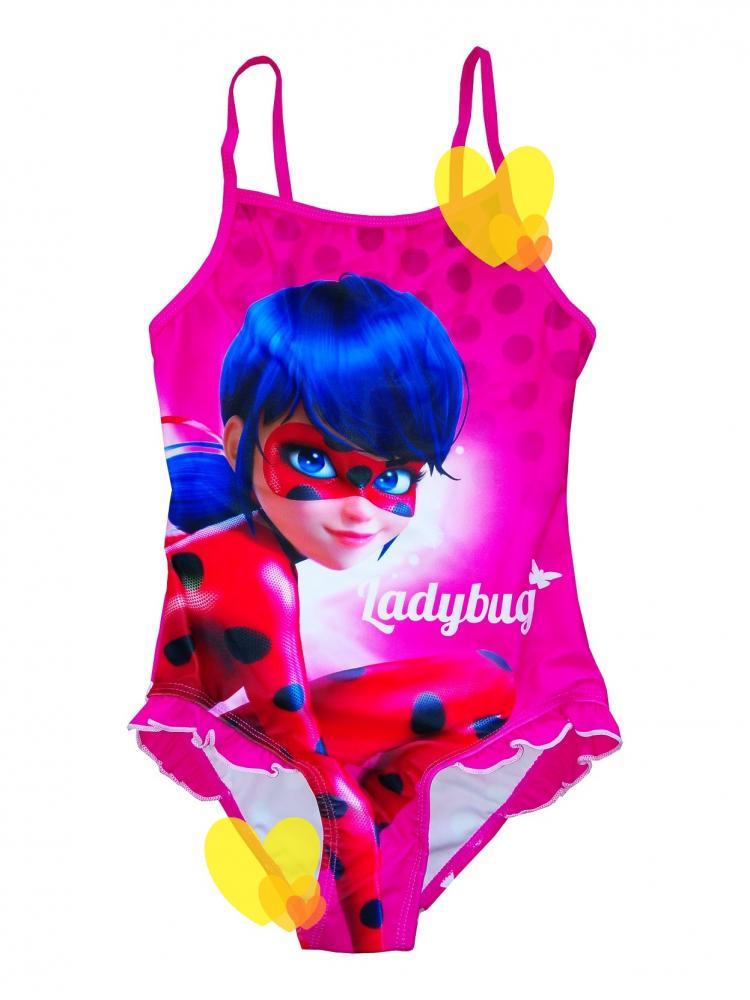Plavky Miraculous Ladybug červené a ružové červené,104