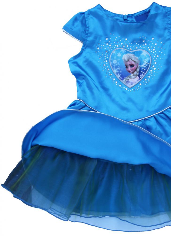 e927e3615b56 Dievčenské šaty Frozen ružové a modré