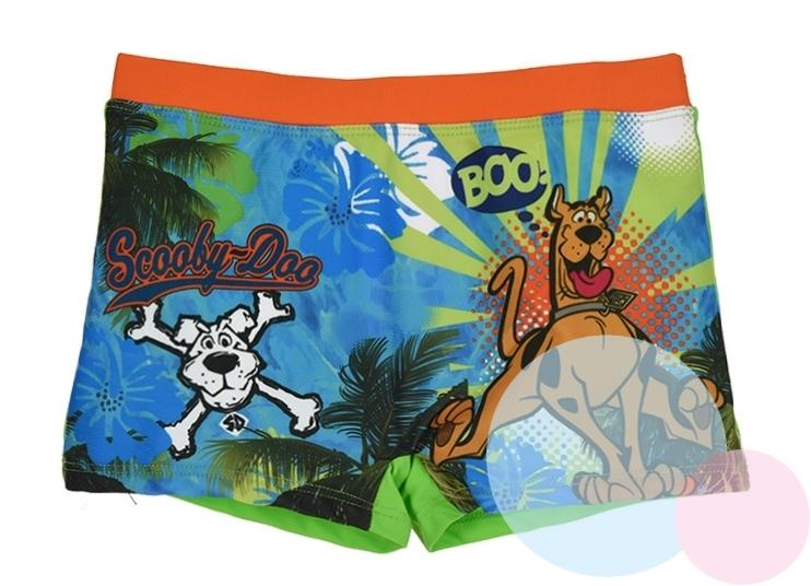 Plavky Scooby Doo oranžový a tmavomodrý lem 98, tmavomodrý lem