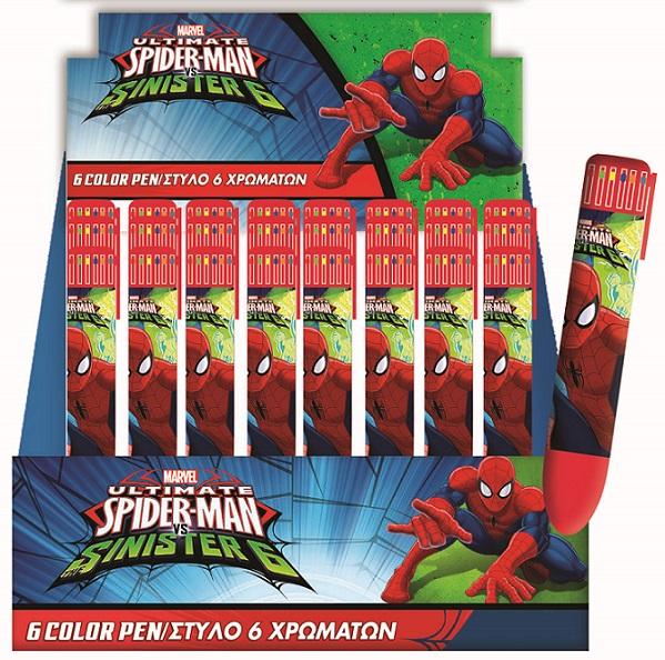 Pero Spiderman 6-farebné